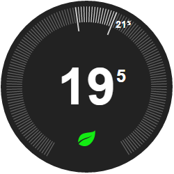 NEST style thermostat Dashboard widget for Node-red | AjSO
